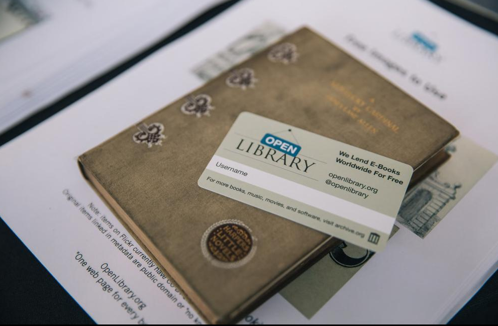 Photo of book and Open LIbrary card