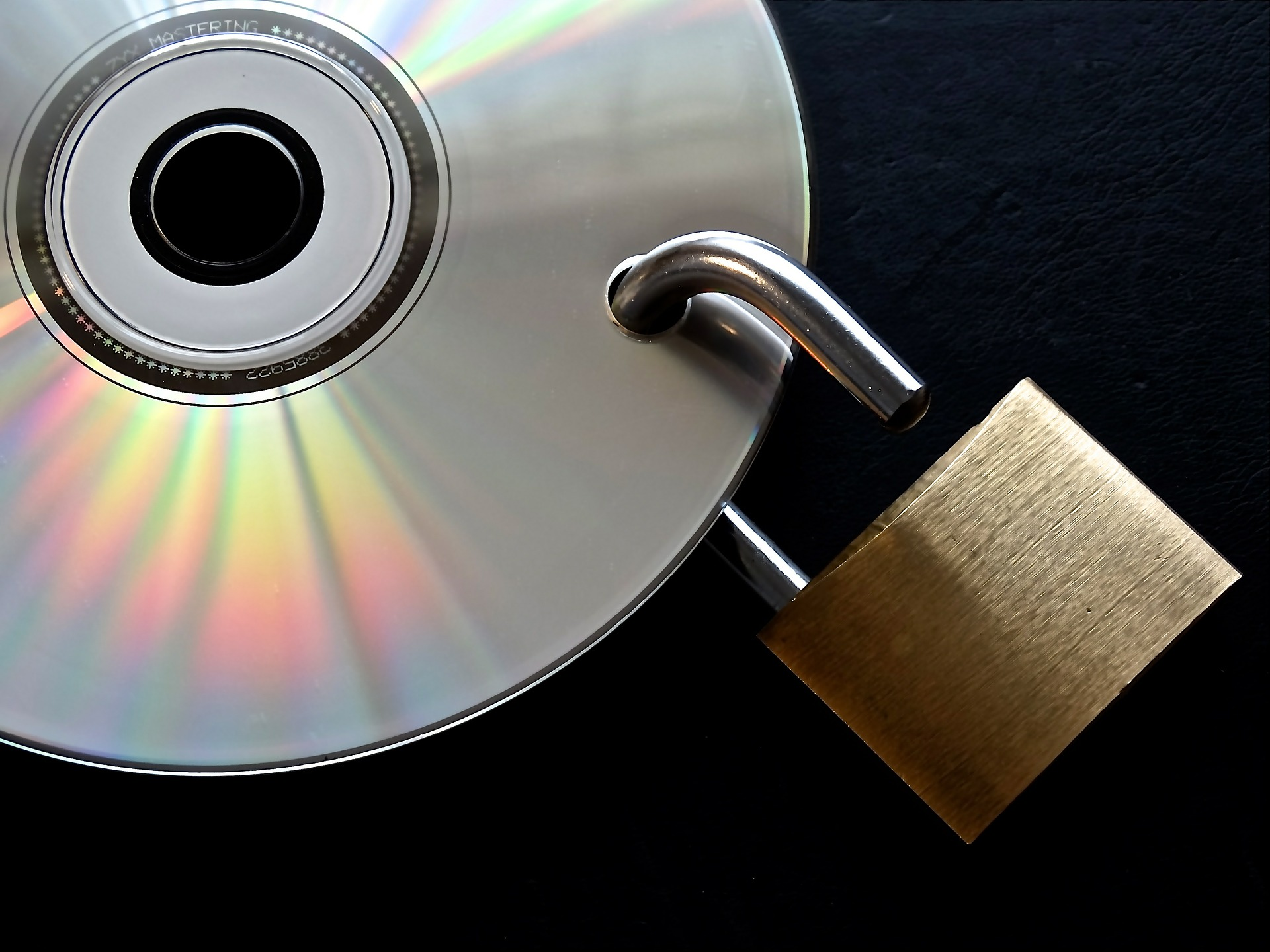 photo of CD with padlock