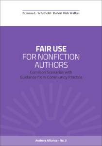Cover of the Fair Use Guide for Nonfiction Authors