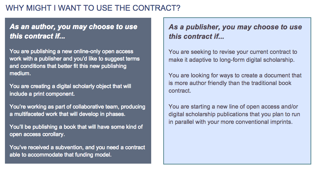 Model Publishing Contract Features Author-Friendly Terms for Open Access Scholarship
