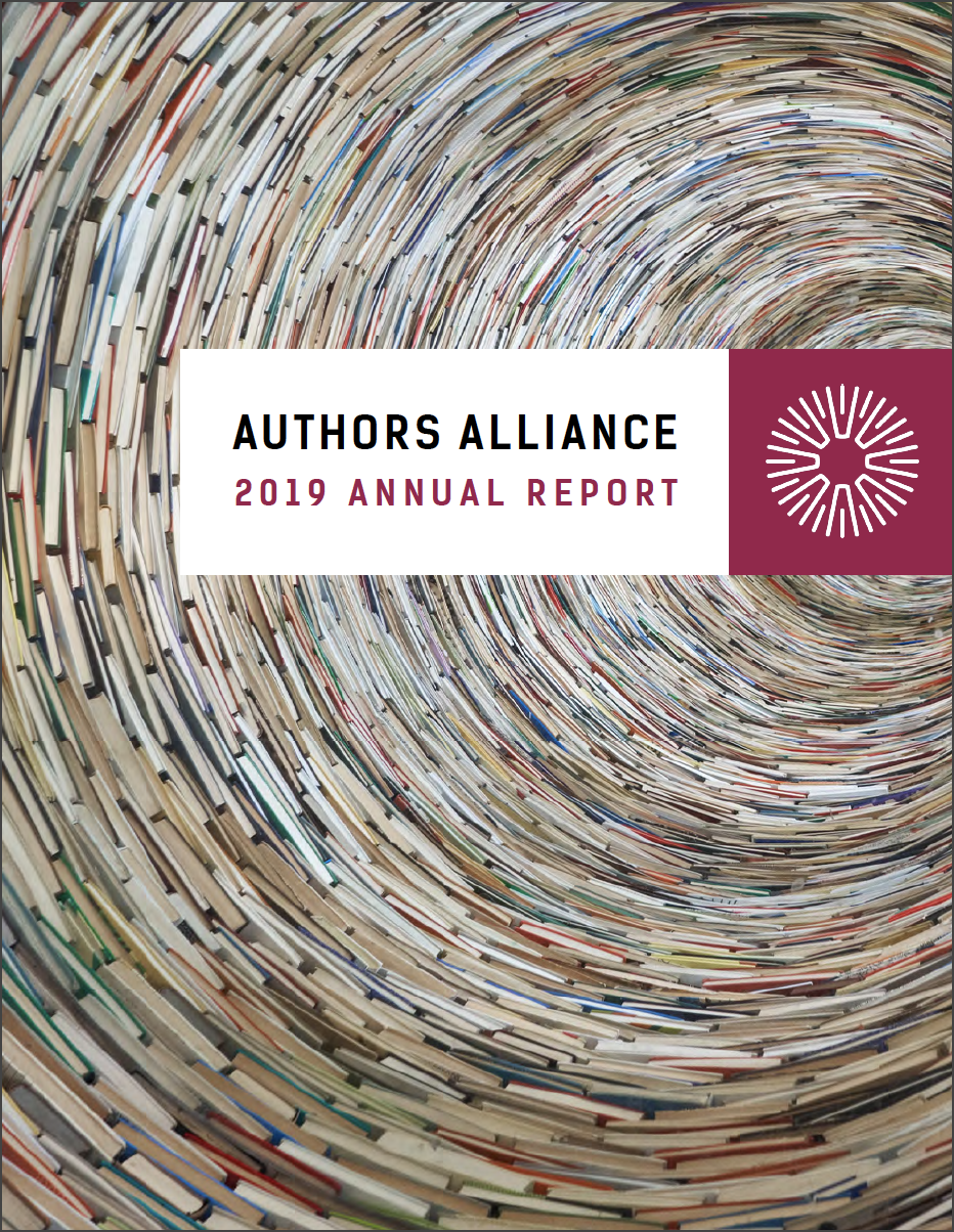 Authors Alliance Annual Report: 2019 in Review
