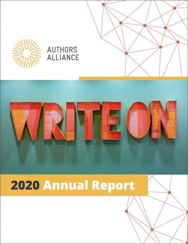 Authors Alliance Annual Report: 2020 In Review